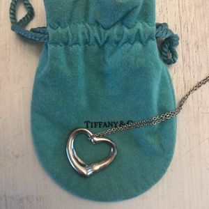 Tiffany heart pendant necklace